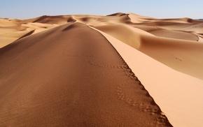 sand, desert, landscape