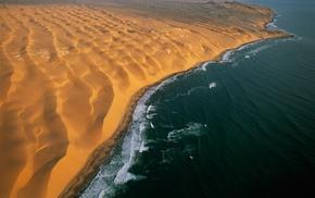 dune, nature, sea, landscape, sand, Namibia