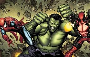 Hulk, Marvel Comics, Spider, Man, Deadpool