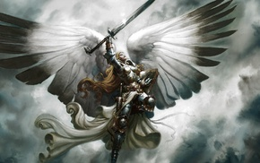 Magic The Gathering, armor, angel, wings