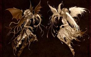 dragon, wings, angel, Devil