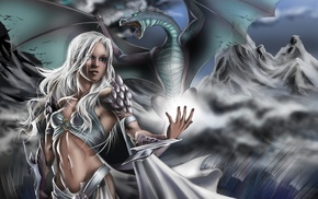 fantasy art, dragon, Daenerys Targaryen, Game of Thrones