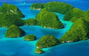 green, turquoise, landscape, sea, exotic, island