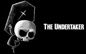 black, skull, death, minimalism