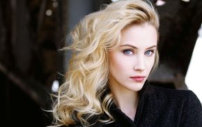girl, face, Sarah Gadon, blonde, blue eyes