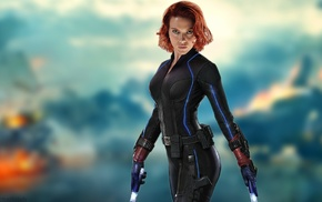 Black Widow, girl, Scarlett Johansson, redhead, The Avengers, Avengers Age of Ultron