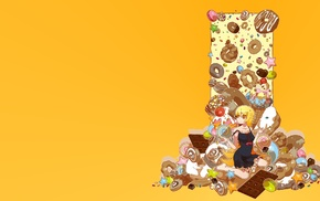 sweets, donut, Monogatari Series, Oshino Shinobu
