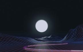 wireframe, vaporwave