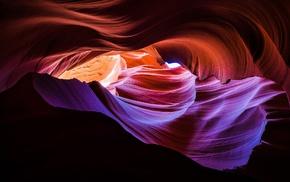 USA, abstract, Arizona, sunlight, stones, Antelope Canyon