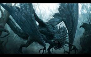 Jabberwocky, digital art, fantasy art, dragon