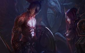 digital art, Leona, Pantheon League of Legends, League of Legends, fantasy art, Chenbo