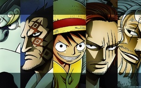 Monkey D. Luffy, Shanks, Jimbei, One Piece, Silvers Rayleigh, Monkey D. Dragon