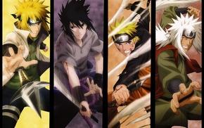 Naruto Shippuuden, Namikaze Minato, panels, Jiraiya, Uzumaki Naruto, Uchiha Sasuke