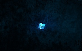 dark, Microsoft Windows, blue