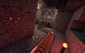 render, video games, Minecraft