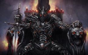 armor, knight, fantasy art, sword