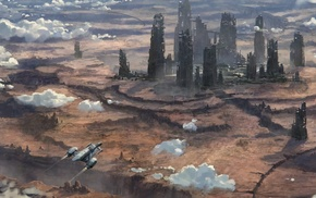 ruins, space, Star Citizen, science fiction, aircraft