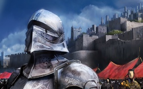 guards, knights, shiny, armor, medieval, silver