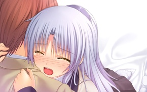 anime girls, anime, Angel Beats, silver hair, Tachibana Kanade
