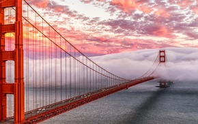 Golden Gate Bridge, San Francisco, bridge, mist