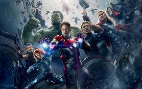 Captain America, Black Widow, Scarlett Johansson, Samuel L. Jackson, Thor, Robert Downey Jr.