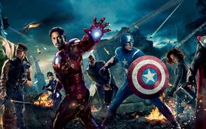 Hulk, The Avengers, Nick Fury, Black Widow, Captain America, Thor