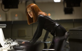 Black Widow, Captain America The Winter Soldier, girl, Scarlett Johansson, actor