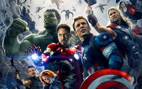 Chris Hemsworth, The Avengers, Robert Downey Jr., Chris Evans, Scarlett Johansson, Jeremy Renner