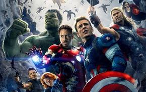 Chris Hemsworth, The Avengers, Robert Downey Jr., Chris Evans, Scarlett Johansson, Jeremy Renner