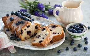 blueberries, cakes, food