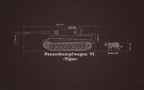 Tiger I, blueprints, military