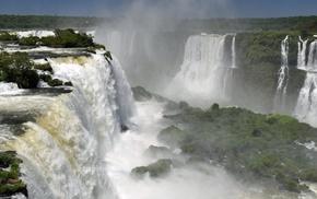 river, waterfall, Iguazu Falls, nature, landscape