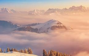 landscape, demon, mist, snow, Trap Nation
