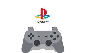video games, logo, PlayStation