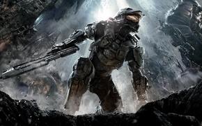 Halo, gun, Master Chief, video games