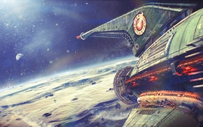 spaceship, Futurama, space, planet express