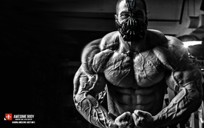 Bodybuilder, working out, bodybuilding, muscles, monochrome