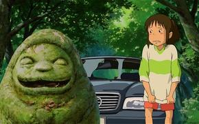 anime, Chihiro, Spirited Away, green, Studio Ghibli