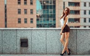 model, high heels, Georgiy Chernyadyev, tattoo, Alla Berger, redhead