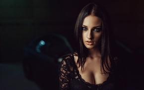 Georgiy Chernyadyev, cleavage, girl, model, Alla Berger