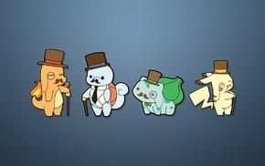 Pokemon, Charmander, Bulbasaur, Pikachu, Squirtle