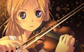 violin, Shigatsu wa Kimi no Uso, anime girls, Miyazono Kaori