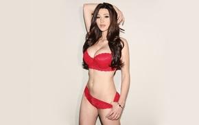 model, brunette, simple background, Serbia, natural boobs, Jenna Jenovich