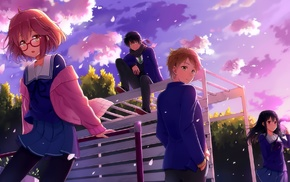 anime girls, artwork, Kyoukai no Kanata