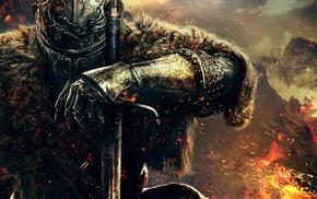 Dark Souls II, sword, warrior, video games