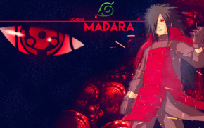 Naruto Shippuuden, Uchiha Madara, Sharingan, Konoha, Eternal Mangekyou Sharingan