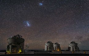 starry night, Atacama Desert, universe, observatory, galaxy, landscape