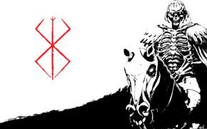 anime, Skull Knight, Kentaro Miura, manga, knight, Berserk