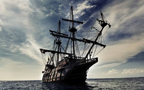 ship, sea, sailing ship, boat