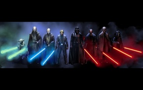 Darth Maul, Darth Sidious, Yoda, Star Wars, Qui, Gon Jinn